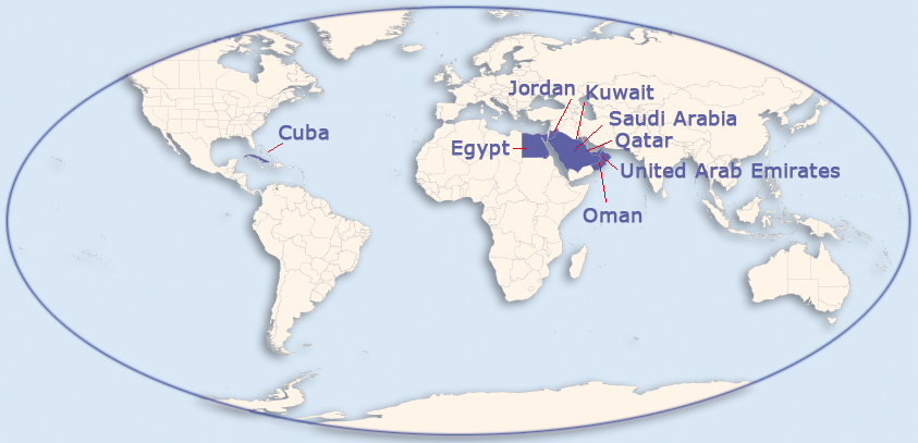 RMI - Map of qatar and egypt